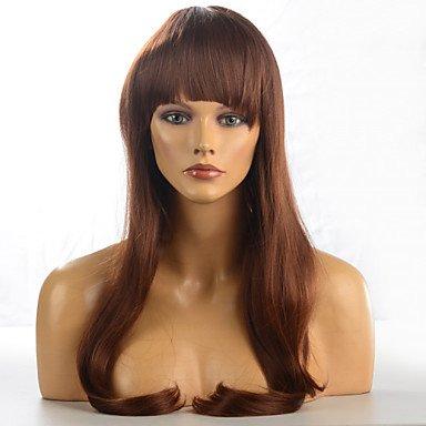 HJL-2015 femmes mode naturel ondul¨¦ Janpanese chaleur, perruque cheveux synth¨¦tiques r¨¦sistant ¨¤ la M16271-#3123 28\\