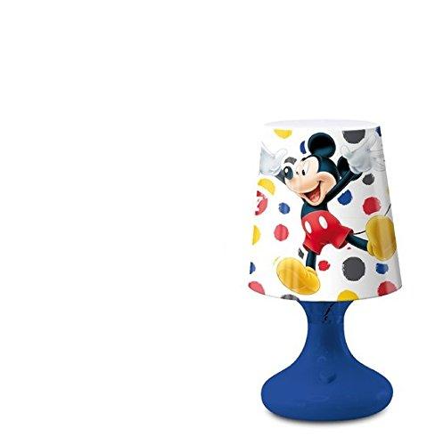Mini Lampe de chevet à LED MICKEY Disney 19 cm Blue