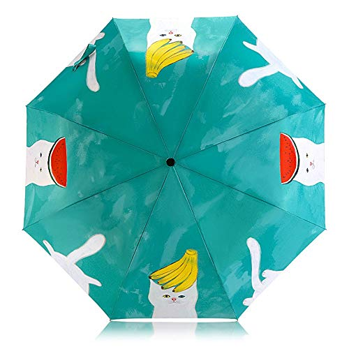 CZSM Studentenschirm, dreifach wetterfester Regenschirm, niedlicher Regenschirm, Sonnenschirm, UV-Schutzschirm (Qualitätskontrolle) -