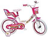 Denver - Bicicleta Infantil de 16 Pulgadas, diseño de Unicornio, Color Blanco y Rosa