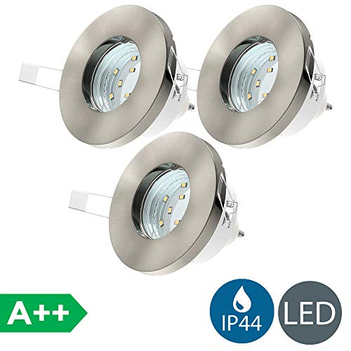 3x3W LED Focos empotrables baño Ø85mm GU10 IP44