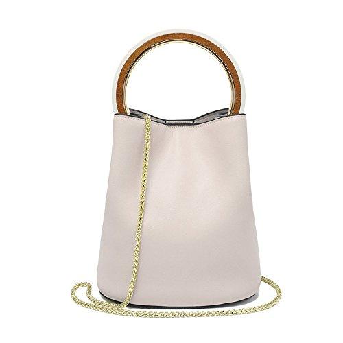 Mefly Neue Handtaschen Aus Leder Fashion Trends Temperament Kette Ring Leder Beige