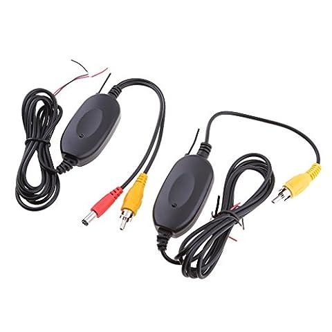 Sharplace 12V Transmetteur AV Sans Fil 2.4GHz Kit De Récepteur Audio Video Pour Voiture Camera De Recul