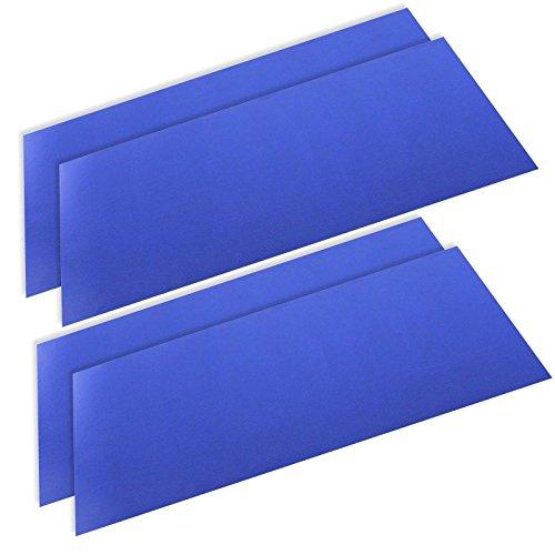 SPARES2GO Defrost Kühlschrank Gefrierschrank Matte Durable Anti-Frost-Liner (50 cm x 25 cm, Packung mit 4)