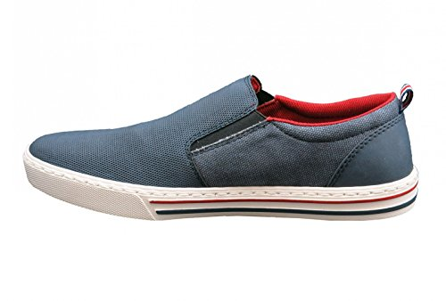 Rieker 19555-14, Mocassini uomo Blu denim/denim 40 Blu (Jeans)