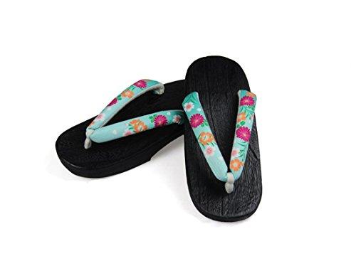 Nuoqi Donna Tradizionale giapponese zoccoli scarpe sandali Geta Accessori cosplay SEM65E