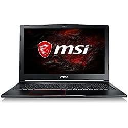 "MSI Raider GE63VR 7RE-093XES - Ordenador portátil DE 15.6"" FHD (Kabylake i7-7700HQ, RAM de 16 GB DDR4, HDD de 1 TB y SSD de 256 GB, Nvidia GeForce GTX 1060, sin Sistema operativo) Color Negro"