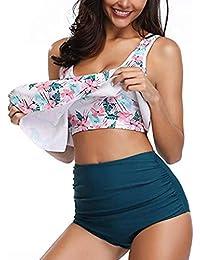 e58ec3b799b97 Trajes de baño Mujer 2019 SHOBDW Conjunto De Bikini Ropa De Playa Verano  Talla Grande Sexy Escotado por Detrás Camisetas Sin…