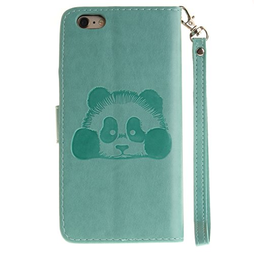 Ekakashop Custodia iphone 6S 4.7 inch, Cover iphone 6, Elegante borsa Custodia in Pelle Protettiva Flip Portafoglio libro Case Cover per Apple iphone 6 6S 4.7 inch / con Carte Slot / Chiusura Magnetic Verde