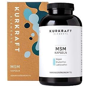 Kurkraft MSM (365 vegane Kapseln) – 1600mg Methylsulfonylmethan (MSM) je Tagesdosis – ohne Zusatzstoffe (Stearat etc.) – hochdosiert – sorgfältig hergestellt in Deutschland