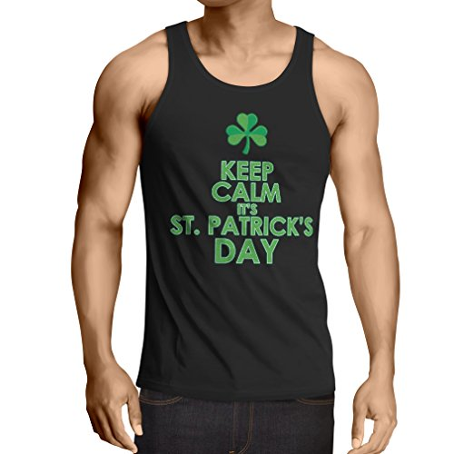 Weste Keep Calm Saint Patricks day sayings shirts (Medium Schwarz (Irland Dance Kostüme Modern)
