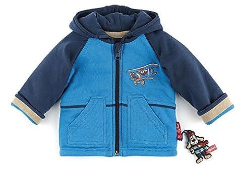 Sigikid 146101Veste réversible Bleu Flying dog, bébé bleu 86