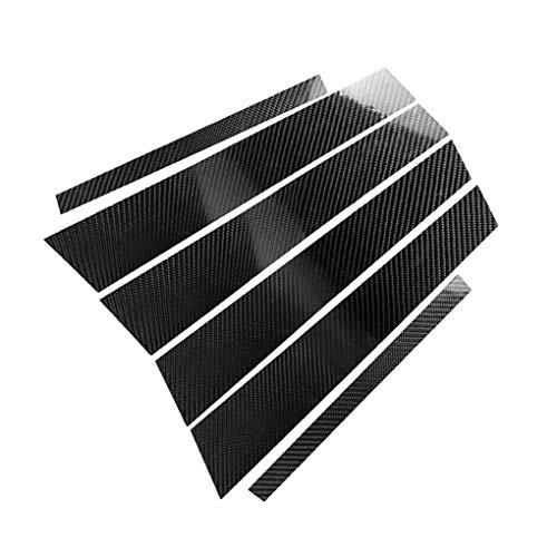 fish 6pcs / Set Auto-Fenster-Säule B-Säule Carbon-Faser-Abdeckungs-Aufkleber-Wiedereinbau für BMW 3er E46 2008-2013 - E46 Bmw Fenster Motor