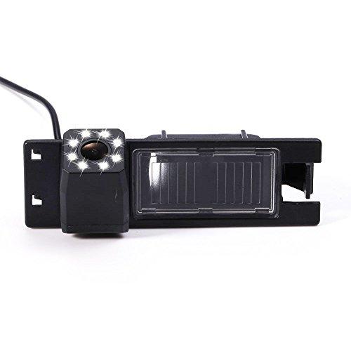 Dynavision Rückfahrkamera wasserdicht Nachtsicht Auto Rückansicht Kamera Einparkhilfe Rückfahrsystem, Kennzeichenleuchte für New Lacrosse/Astra H/Zafira B/Corsa D/Vectra C(Nr. 3 mit LED-Kamera)