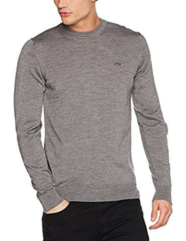 Lacoste Men's Ah2997 Jumper, Grey (Pierre Chine), Small (Manufacturer Size: 3)