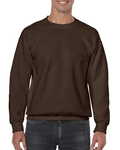 Gildan Sweatshirt, Melange Gr. L, dark chocolate -