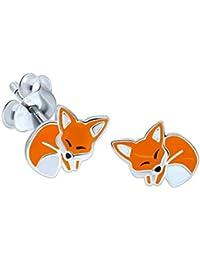 Sleeping Fox Earrings - Sterling Silver Gift