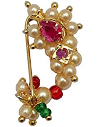 Love Gold Gold Plated Clip On Extra Small Maharashtrian Nose Ring For Women (Nat05Cxs)