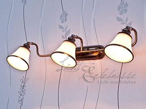 Esclusiva da bagno lampada 3 x e14 in bronzo effetto ip20 lampada da