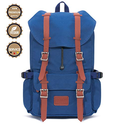 Fjorda Canvas Rucksack Fidelio - Als Handgepäck, für die Schule oder Uni, mit Laptop-Fach | Viel Platz durch 23L Volumen | für Damen und Herren