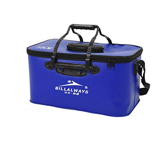 Unendlich Ideal Home Decor Center 1Eva Zusammenklappbar Angeln Bucket Outdoor Lauf Camping Reise Werkzeug Gut, Blau, 50 cm - Angeln Home Decor