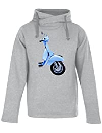 Big Blue Vespa Top Fashion Quality Clothing Men's Heavyweight Hooded Sweatshirt