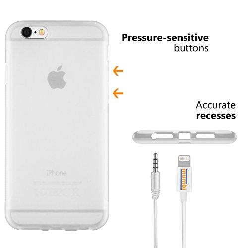mumbi Schutzhülle für iPhone 6 6s Hülle transparent weiss Grip