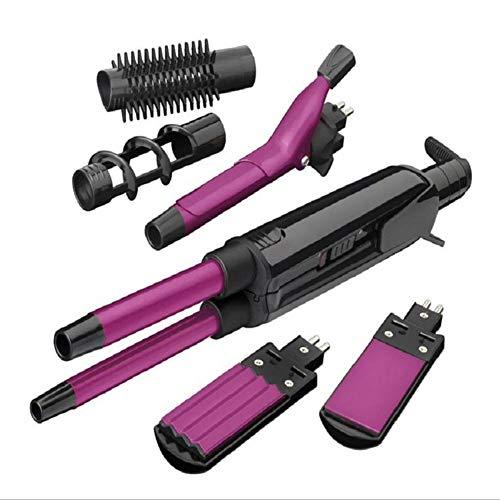 Rizador de pelo multifunción profesional/alisador de pelo de cerámica/máquina de remolque - puede crear rizos pequeños/rizos grandes/estilo de pelo recto - estilista que no dañará el cabello