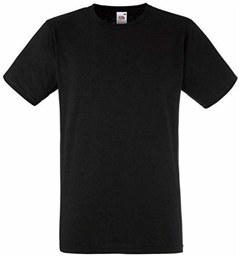 Fitted Valueweight T | Figurbetontes T-Shirt Schwarz