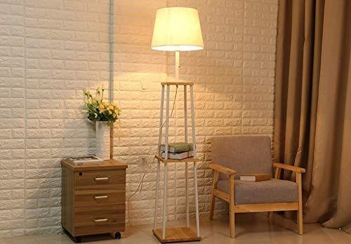 Stehlampe, moderne weiße Schlafzimmer Bett vertikale Rack Stehlampe Wohnzimmer Holz, Eisen Sofa, Couchtisch Stehlampe zum Lesen -