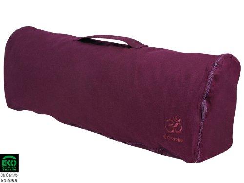 Sac à tapis de yoga Chic et Cool 100% Coton Bio 82cm x 17cm - Prune