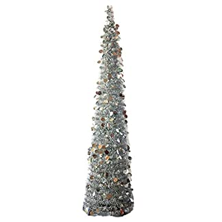 Baoblaze-Knstliche-Weihnachtsbaum-Tannenbaum-Christmas-Baum-mit-Metall-Draht-und-Pailletten-Deko