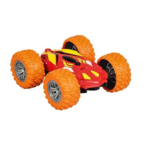 Ledu RC Stunt Auto, ferngesteuertes Auto 4WD beidseitig 360 ° drehbar und mit fahrendem Auto beidseitig Muldenkipper Offroad-Kinderspielzeug umdrehen,Orange
