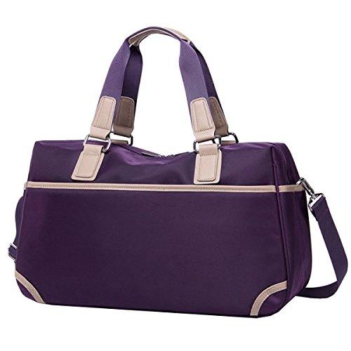 Große Kapazität Reisetasche Gepäcktaschen Handtasche Sport Und Fitness Sporttasche Fitnesstasche Große Kapazität Handtasche Purple