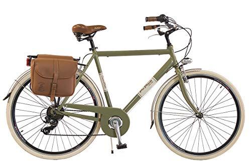 Via Veneto by Canellini Bicicletta Bici Citybike CTB Uomo Vintage Retro Via Veneto Alluminio Verde Oliva Taglia 58