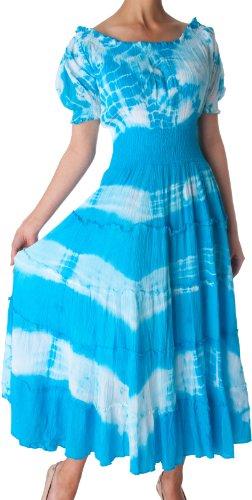 1702-sakkas-2-tone-binde-frben-cap-rmel-taille-tiered-smok-guazy-langes-kleid-blau