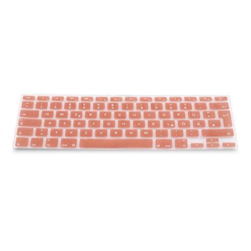 kwmobile Tastaturschutz Apple MacBook Air 13''/Pro Retina 13''/15'' (bis Mitte 2016) - QWERTZ Silikon Laptop Tastaturfolie - Notebook Tastaturschutzfolie Rosegold