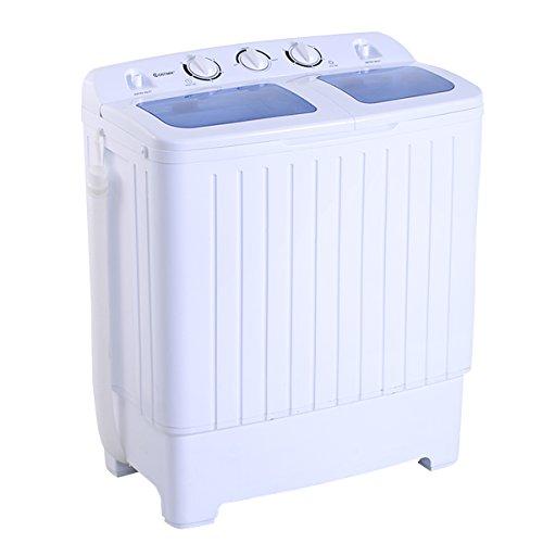 MINI machine à laver Lave-linge + Essoreuse 2 Buckets 4,5 kg 300 W