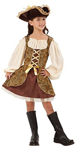 Fancy Kostüm Pirate Dress - GIRLS GOLDEN HIGH SEAS PIRATE FANCY DRESS COSTUME