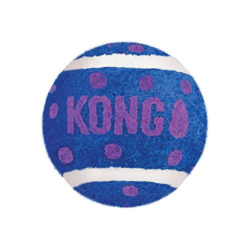 KONG - Cat Active Tennis Balls with Bell - Katzenspielzeug mit Glöckchen im Inneren - Dreierpack -