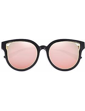 LXKMTYJ Gafas De Sol Colorido Redonda Lady Retro Gafas Personales, Rosa
