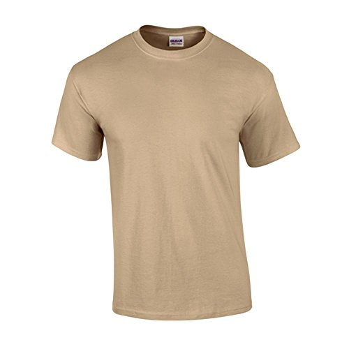 Gildan - T-Shirt 'Ultra Cotton' 3XL,Tan (Baumwolle Tan Shirt)