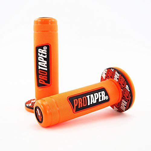 22mm Universal Motorrad Lenker Teil Racing Motorrad Lenker Für Protaper Yamaha KTM Motocross Moto Grip Pit Bike Cyclist store (Farbe : Orange)