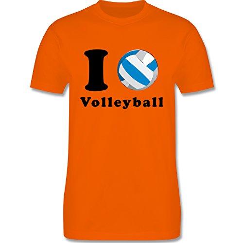 Volleyball - I Love Volleyball - Herren Premium T-Shirt Orange