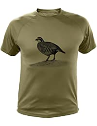 Camisetas personalizadas de caza, perdiz roja - Ideas regalos (30166, Verde, XXL)