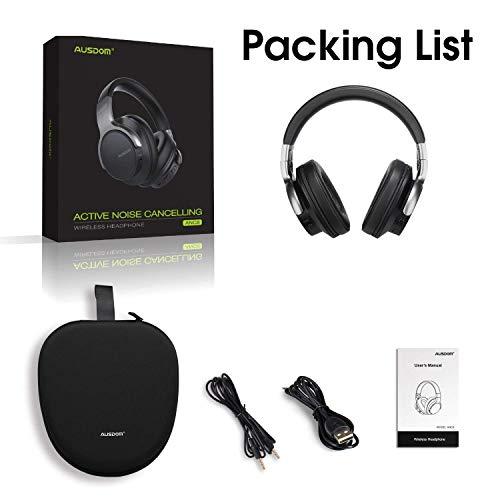 AUSDOM ANC8 Active Noise Cancelling Kopfhörer, Bluetooth Kopfhörer, Noise Cancelling Kopfhoerer mit Super HiFi, Faltbare, Komfortabler Ohrpolster, Integiertes Mikrofon, 20 Stunden Spielzeit - 7