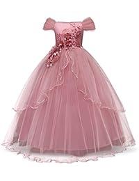 TTYAOVO Mädchen Festzug Prinzessin Blume Kleid Kinder Prom Puffy Tüll Ballkleider