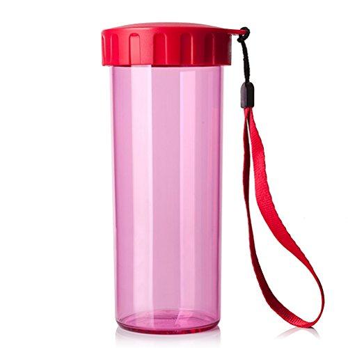 Tasses Mugs et soucoupes Tasses à Expresso Gobelet portatif de Couleur de Tasse de Couleur d'isolation de Sports de Grande capacité de 15 onces (Color : Pink)