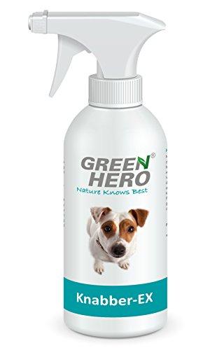 Green Hero Knabber-EX für Hunde und Katzen, 500 ml, Zum Verhindern des Ankauens BZW. als Kaustopp, Bitterspray, Erziehungsspray, Erziehungshilfe