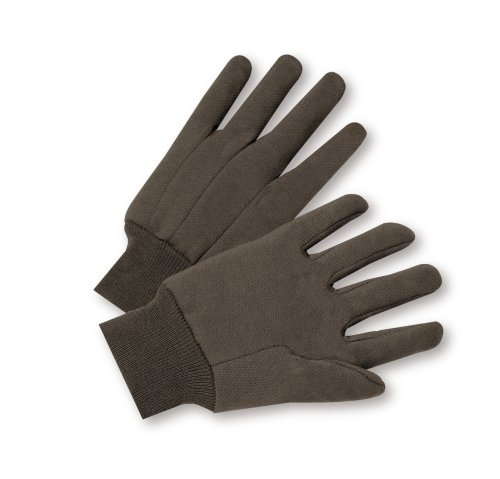 WEST CHESTER 750 Poly/Cotton Blend Brown Jersey Glove-12PK LG BRN JERSEY GLOVE (Blend Jersey)